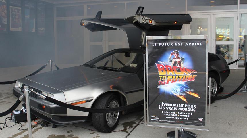 Une Delorean et bien plus au Cineplex Beauport pour la Journée mondiale de Retour vers le futur
