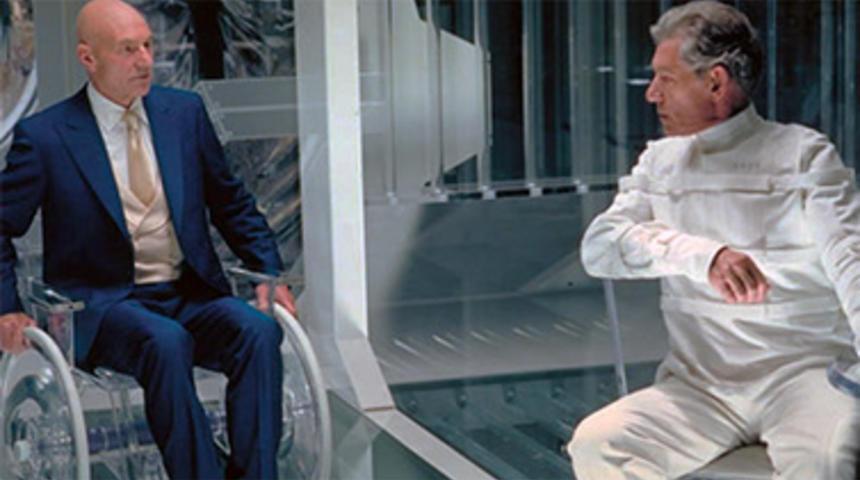Patrick Stewart et Ian McKellen dans X-Men: Days of Future Past