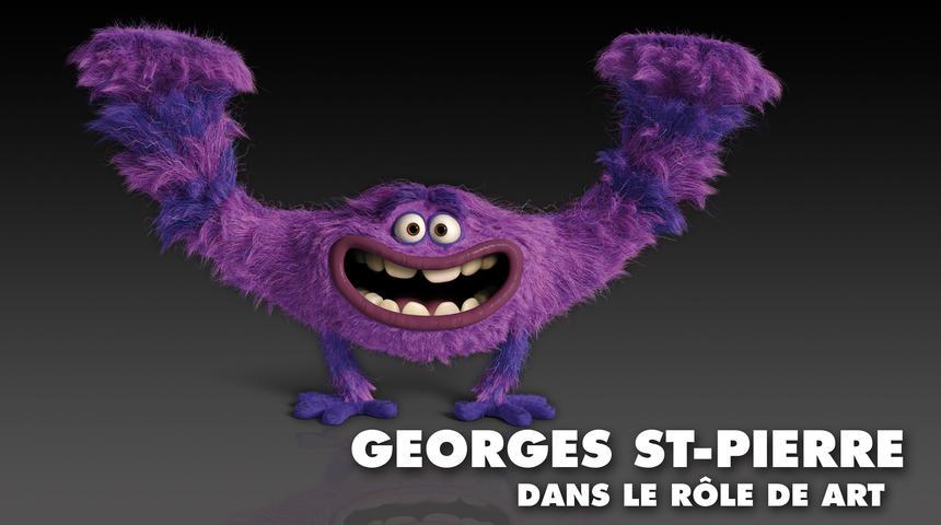 Georges St-Pierre prêtera sa voix à un personnage de L'université des monstres